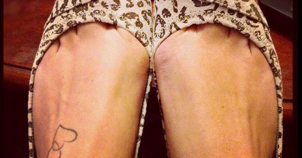 love her cute feet, tattoo & flats!