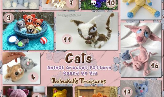 Cats Part 2 - Fancy Kitty Toys | Animal Crochet Pattern ...