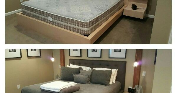 Ikea Malm Bed Hack Before And After Great Design Pinterest The Edge Ikea Malm And Beds