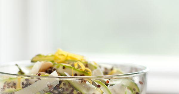 Shaved Asparagus Quinoa Salad