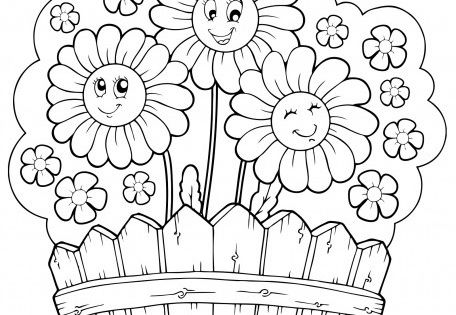 Weather templets to print ancolor summer theme daisy for Summer themed coloring pages