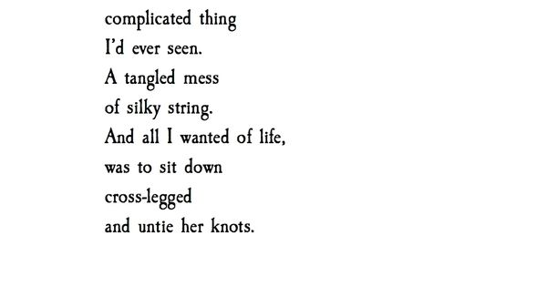 'Knots & Strings' Atticus Poetry atticuspoetry Absolutely love this ♡♡♡