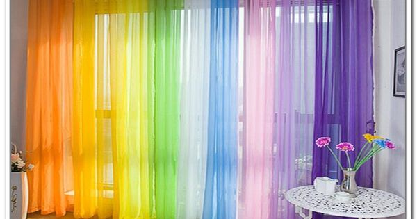 Multi Colored Sheer Curtains   Christmas gifts   Pinterest ...