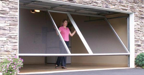 Retractable screen door for your garage for the home for Retractable screen door repair