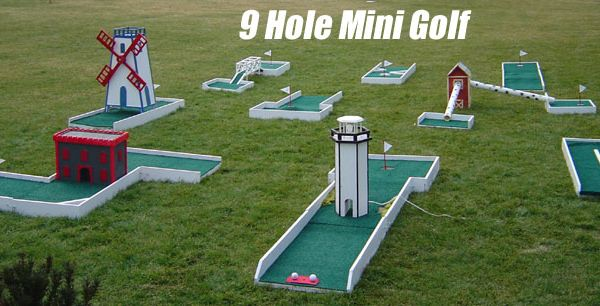 Homemade Backyard Mini Golf Course Mini Golf Games For