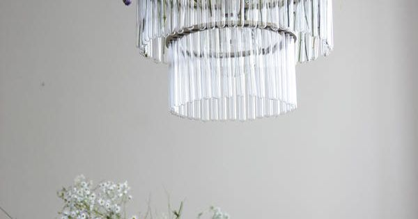 fresh flower chandelier.