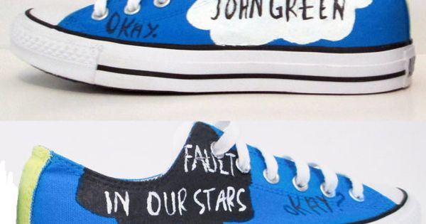 The Fault In Our Stars Handpainted Converse Shoes with Quotes I need these. I only want these because there TFIOS
