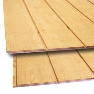 15 32 In X 4 Ft X 8 Ft T1 11 8 In On Center Fir Plywood Siding 398135 The Home Depot Plywood Siding Wood Siding Types Wood Siding