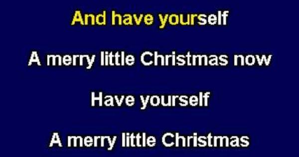 Have Yourself A Merry Little Christmas Karaoke Youtube Little Christmas Karaoke Merry Little Christmas
