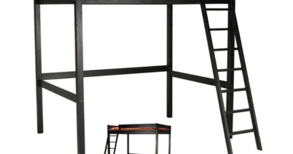 conforama lit mezzanine 90x200 cm studio d coration int rieure pinterest studios et mezzanine. Black Bedroom Furniture Sets. Home Design Ideas