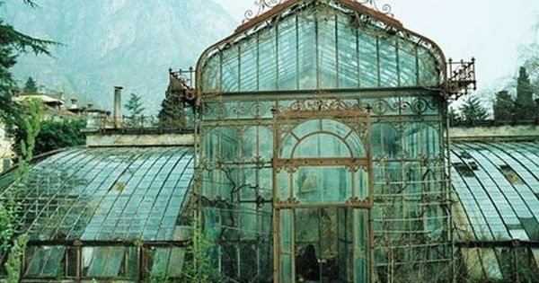 Abandoned Victorian Style Greenhouse Villa Maria In Northern Italy Near Lake Como Photo Taken