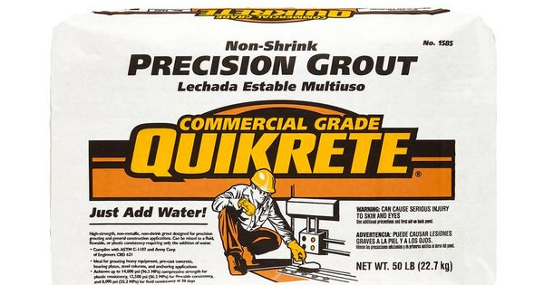 Quikrete 50 Lb Non Shrink Precision Grout 158500 The Home Depot Grout Precision Depot