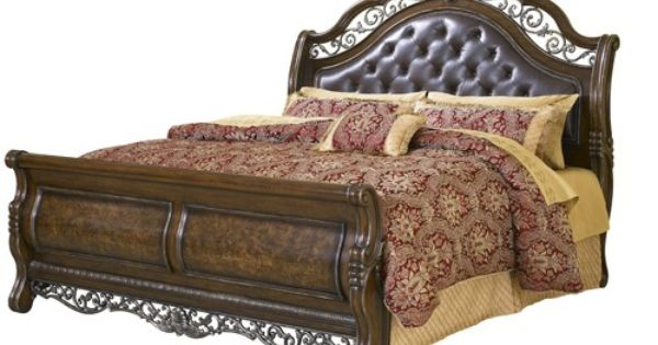 Pu 991180 1 2 K Pulaski Birkhaven King Bed Queen Size Panel Bed Pulaski Furniture Leather Headboard