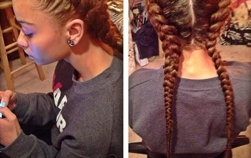 I Love These Two French Braids Mixed Creation
