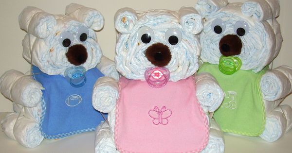 Clever baby shower ideas bear yahoo search results for Diaper crafts for baby shower