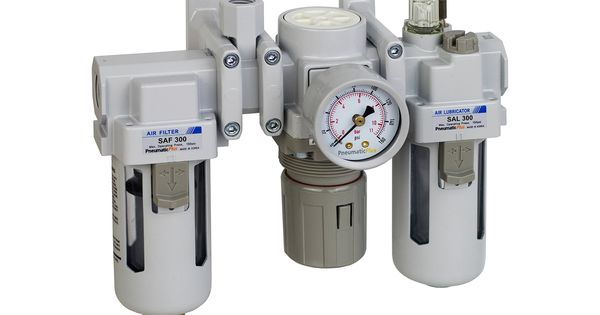 Pneumaticplus Sau300a N03g Dual Air System 3 8 Npt Air Filter Regulator And Lubricator W Additional Free Air Port 1 In 2020 Air Tools Air Compressor Air Filter