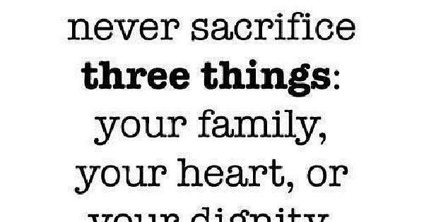 Live Your Life On Purpose | ... sacrifice three things : Your