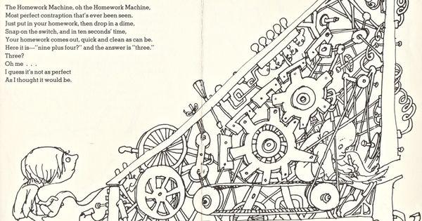 Shel Silverstein - Homework Machine (1280×930) | shel ...