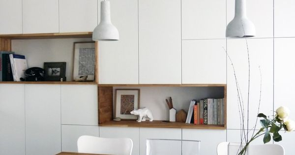 mur rangements blanc bois scandinave my home scandinave pinterest pi ces de monnaie. Black Bedroom Furniture Sets. Home Design Ideas