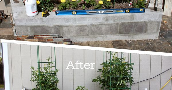 Diy Slate Ledger Stone Planter Boxes With A Bench Boxes