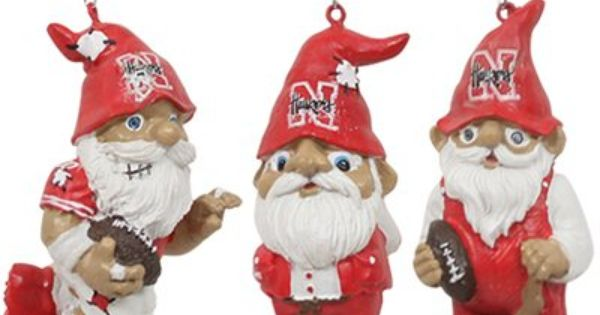 Nebraska Cornhuskers 3 Pack Action Gnome Ornament Set Check Out All Of The Huskers Holiday Decor Here Http Pin F Ornament Set Gnome Ornaments Holiday Decor