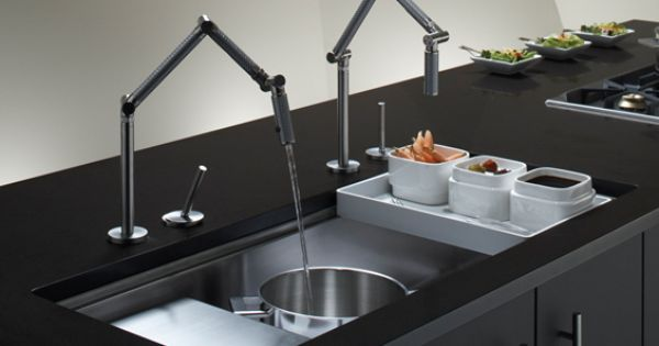 Kohler Karbon Faucet And Stages 45 Quot Under Mount Sink Perfect Chefs Kitchen Kitchen