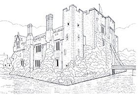 Hever Castle Kent England With Images Castle Coloring Page