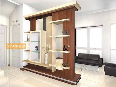 Mebel Partisi Ruang Tamu | Desain Interior, Interior, Ide Dekorasi Rumah