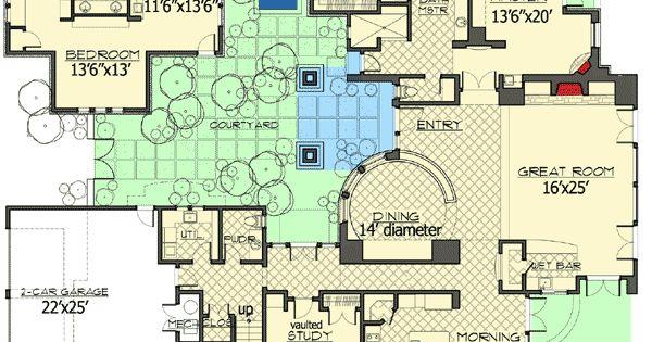 Plan 54206hu tuscan dream home with casita planos for Tuscan home plans with casitas