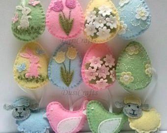 Decorative Felt Easter Egg Ornament