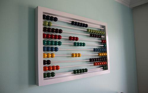 DIY Abacus Wall Decor - Baby room