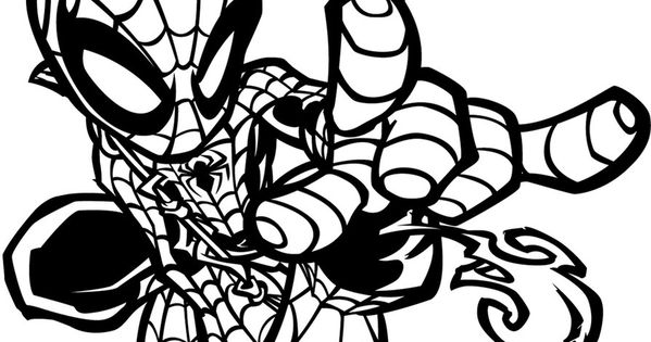 spider woman coloring pages - little spider woman superhero printable coloring pages for