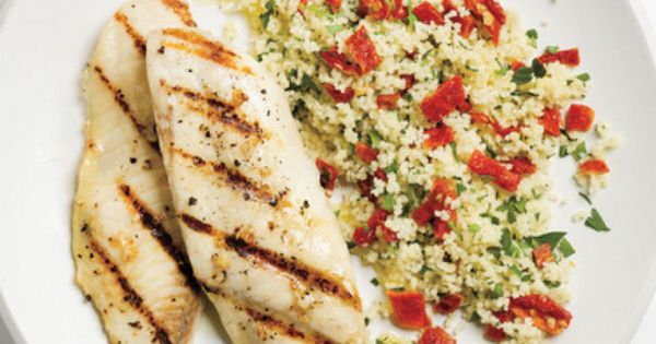 Garlicky Grilled Tilapia With Couscous | Easy Grilled Fish Recipes | Real