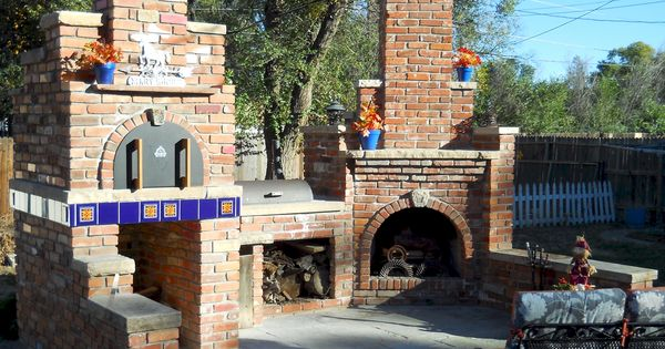 A Picture Perfect Example Of An Outdoor Fireplace Bbq And Brick