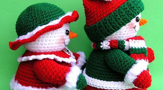 Pdf au crochet motif mr et mme winters bonhommes de par - Bonhomme de neige au crochet ...
