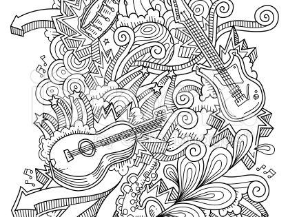 Music Doodles Neat And Detailed Strokes
