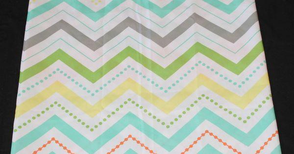 Chevron fabric fabric shower curtains and orange on pinterest