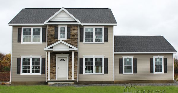 our broadway model house with quot high sierra quot color siding