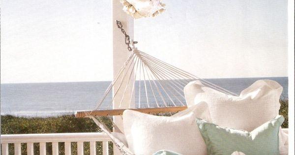 Hammock on the balcony overlooking the ocean ahhh oh for Balcony hammock