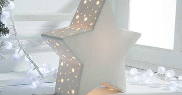 Lampara De Estrella De Porcelana 27x26x10cm Ref 17698982 Leroy Merlin Lampara De Estrellas Estrellas De Madera Decoracion Para Ninos