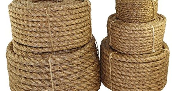 Amazon Com Sgt Knots Twisted Manila Rope 1 4 5 16 3 8 1 2 5 8 3 4 1 1 25 1 5 2 3 X Several Lengths Manila Rope Hemp Rope How To Make Rope