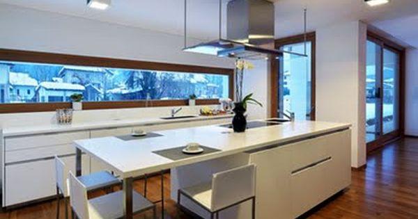 Casas minimalistas y modernas cocinas con desayunador for Cocinas grandes modernas