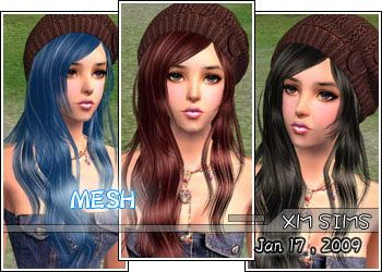 Xm Sims2 Free Sims 2 Computer Game Hair New Mesh Download Long