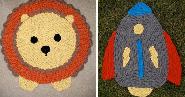 Alfombras y cojines de crochet para ni os alfombras for Agarraderas para ninos