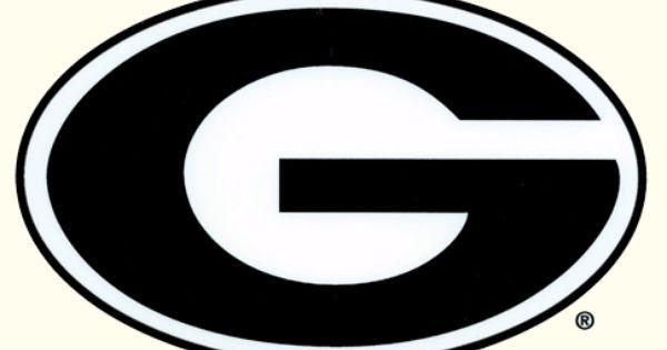 Uga large g logo car decal outside application georgia for Car craft athens ga