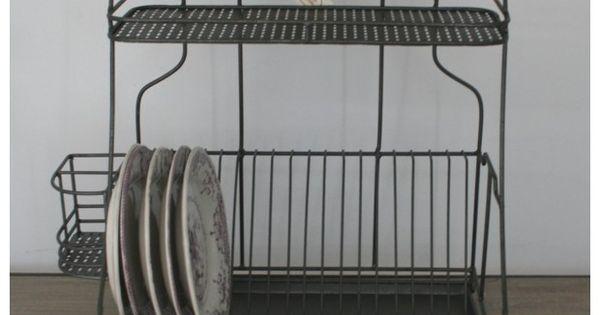 egouttoir zinc d co cuisine r tro comptoir de famille bistro pinterest kitchens. Black Bedroom Furniture Sets. Home Design Ideas
