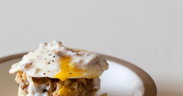 Biscuits and Gravy meets Eggs Benedict. I want this so hard.