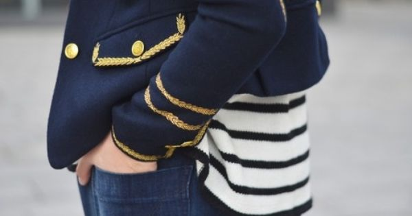 Sailor Stripes & Gold Accents