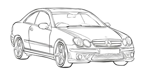 mercedes benz clk coloring page