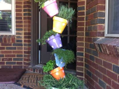 DIY Projects Pinterest | My DIY Instructions for a Tipsy Plant Tower
